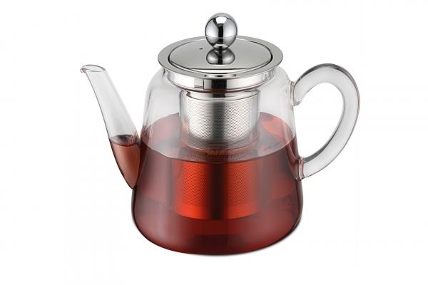 Teekanne Borosilikatglas mit Teefilter 1500 ml