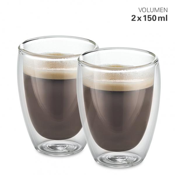 Gläser doppelwandig M 150 ml Set 2