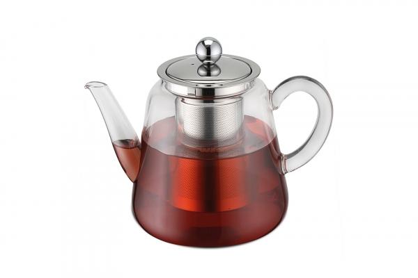Teekanne Borosilikatglas mit Teefilter 1100 ml