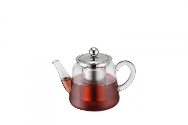 Teekanne Borosilikatglas mit Teefilter 450 ml