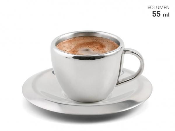 Espressotasse mit Untersetzer