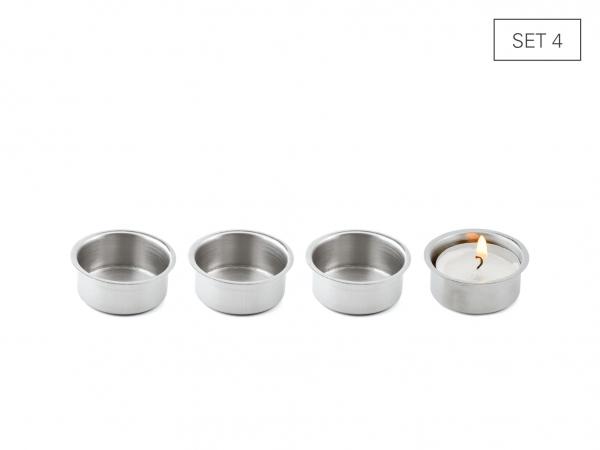 Teelichtbecher Set 4