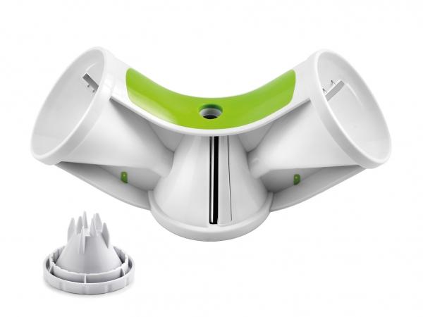 Spiralschneider Triple weiß/grün