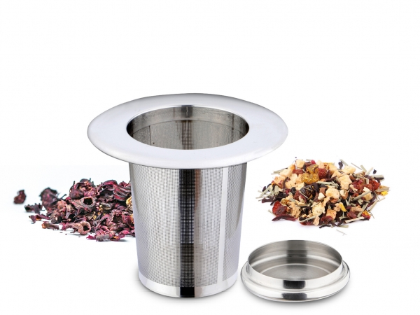 Teefilter mit breitem Aufsetzrand