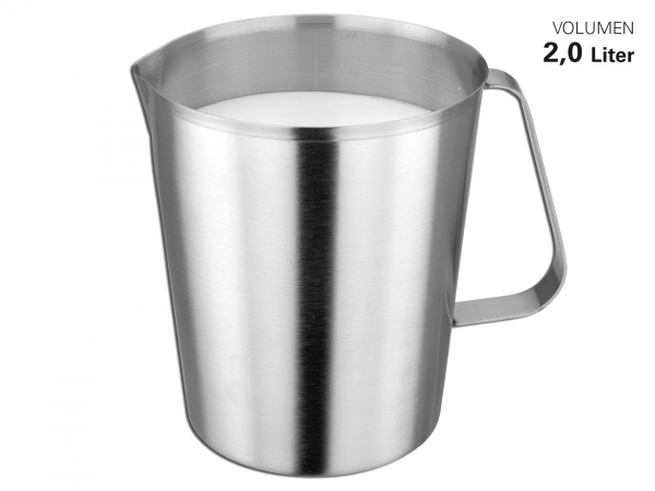 Messbecher Edelstahl satiniert 2 Liter