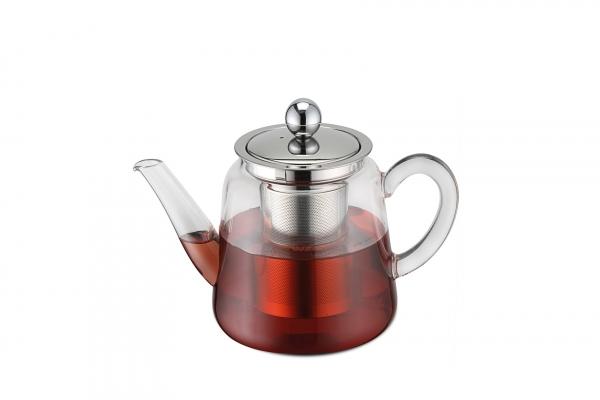 Teekanne Borosilikatglas mit Teefilter 750 ml