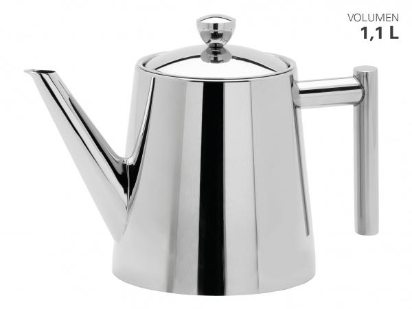 Teekanne hochglänzend mit Teefilter 1100 ml