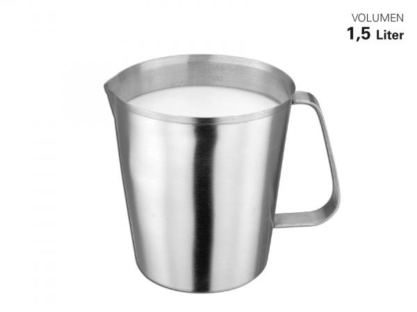 Messbecher Edelstahl satiniert 1,5 Liter