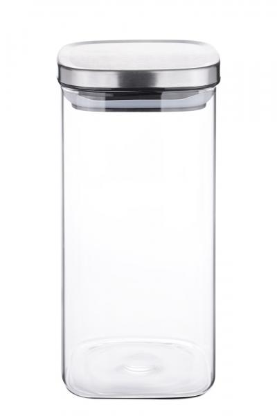 Vorratsdose Borosilikatglas eckig 1500 ml