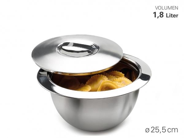 Thermoschüssel mit Deckel Ø 26 cm, 1,8 L