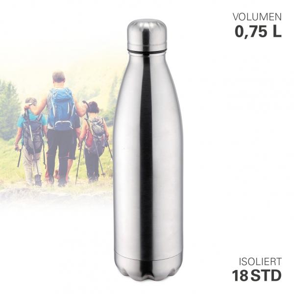 Thermoflasche vakuum 750 ml Edelstahl