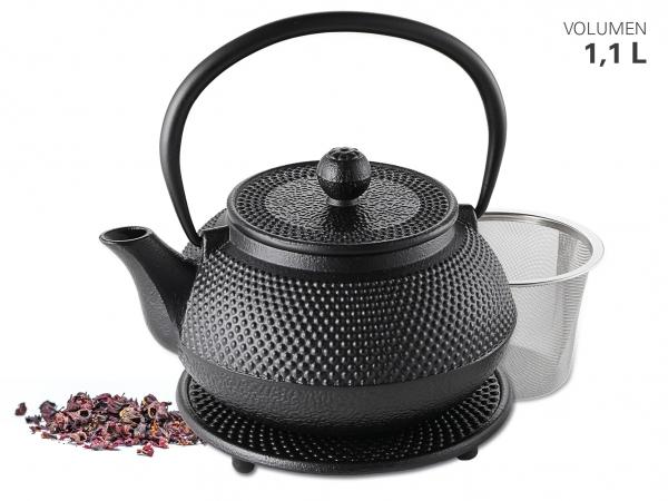 Teekanne aus Gusseisen 1,1 L inkl. Untersetzer von Karl Weis