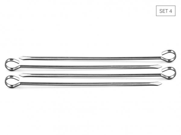 Schaschlikspiesse breit 36 cm, Set 4