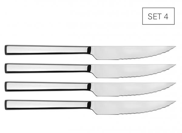 Steakmesser mit Wellenschliff Set 4
