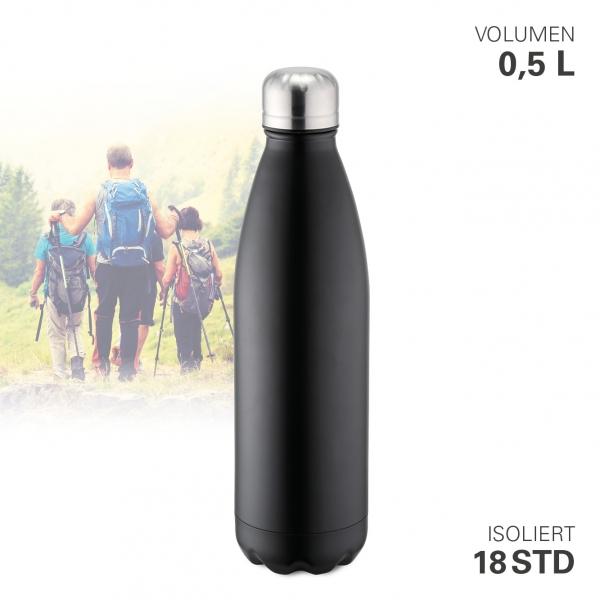 Thermoflasche vakuum schwarz 500 ml