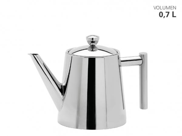 Teekanne hochglänzend m. Teefilter 0,7 L