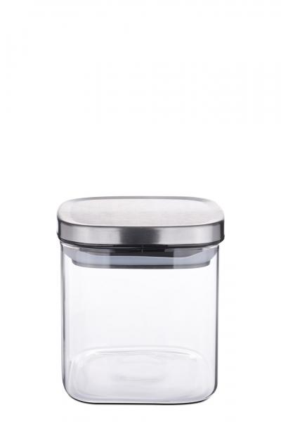Vorratsdose Borosilikatglas eckig 600 ml