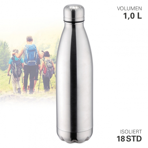 Thermoflasche vakuum 1000 ml Edelstahl