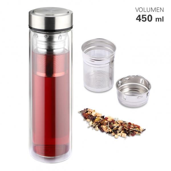 Teebereiter Flasche mit Filter 450 ml