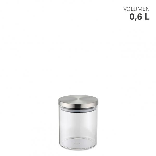 Vorratsdose aus Borosilikatglas 600 ml