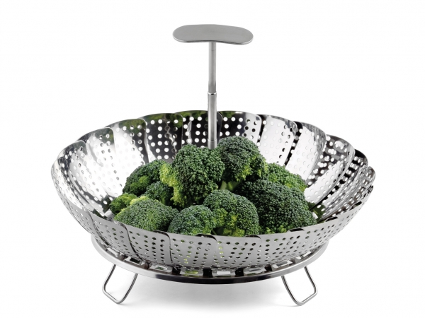 Gemüsesieder mit Teleskopgriff 18-26 cm