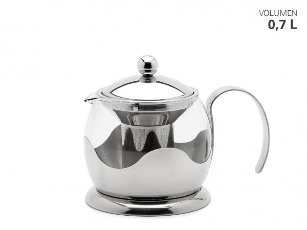 Teekanne Glas/Edelstahl 700 ml