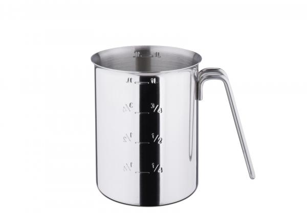 Messbecher Edelstahl poliert 1 Liter