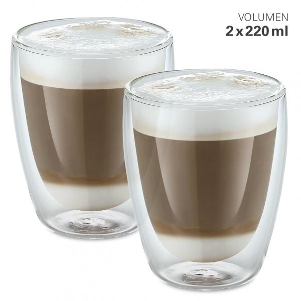 Gläser doppelwandig L 220 ml Set 2