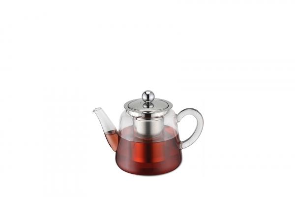 Teekanne Borosilikatglas mit Teefilter 250 ml