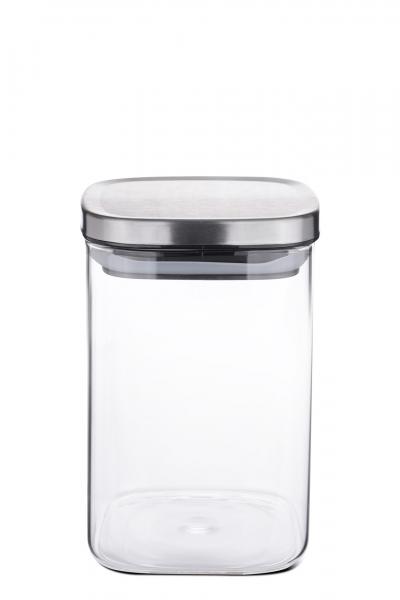 Vorratsdose Borosilikatglas eckig 1000 ml