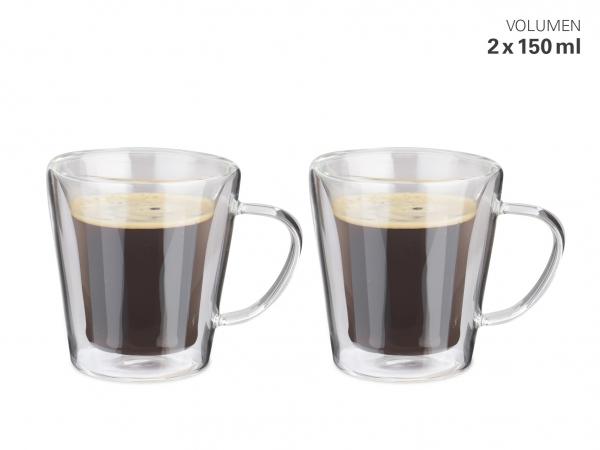 Tassen doppelwandig M 180 ml Set 2